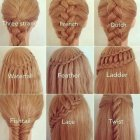 Different plaits for hair