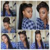 Ways of styling braided hair