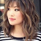 Short curly hair with bangs 2020