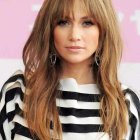 Long hairstyles with a fringe 2021