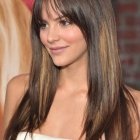 Best hairstyle for round face with long hair