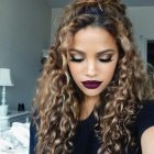 Different hairstyles for long curly hair