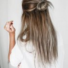 Hair style for women with long hair