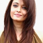Long haircuts for women with round faces