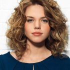 Perfect hairstyle for curly hair