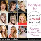 Round face shape hairstyles