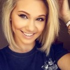 Short blonde haircuts for round faces