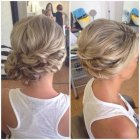 Bridesmaid hair up to the side