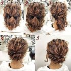 Easy to do updos for medium hair