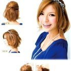 Easy upstyles for short hair
