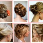 Hair model for wedding party