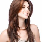 Long hair cutting style for female