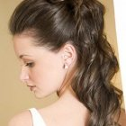 Long hairstyles put up