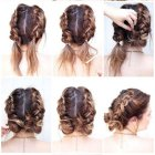 Low updos for medium hair