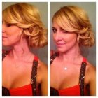 Low updos for short hair