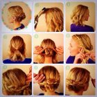 Pretty updos for short hair