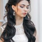 Prom hairstyles for long dark hair