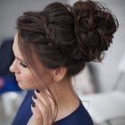 Updo bun hairstyles for prom