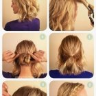 Updo hairstyles for layered hair