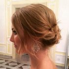 Updo hairstyles for mid length hair