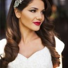 Hairstyles for long hair wedding day